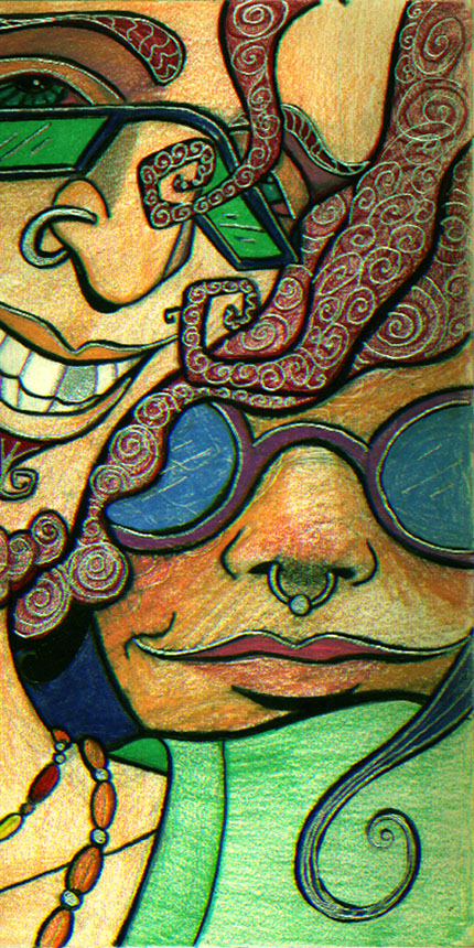 Groovy Hippies Illustration by Ellie