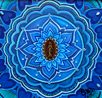 Mother Mary Mandala Painting by Ellie